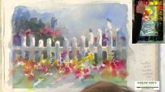 """Dessin et peinture - vidéo 1368 : La barrière blanche à l'aquarelle, par la méthode """"humide sur humide""""1."""