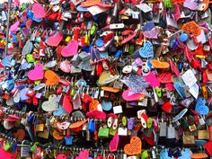At Seoul's Mt Namsan, thousands of Love padlocks can be seen hanging on the fences around the base level of N. Seoul Tower.