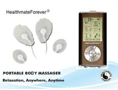 FDA Cleared!! HealthmateForever TENS impulse massager Pro, full body electrotherapy, acupuncture physical therapy micro palm mini massager, ...