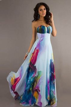 2017 New style Floor-Length Women Dress long dresses evening party ukraine sexy Strapless maxi dress plus size vestido de festa Maxi Robes, Chiffon Maxi Dress, Floral Maxi Dress, Strapless Dress Formal, Prom Dresses, Summer Dresses, Summer Maxi, Strapless Maxi, Pleated Maxi