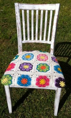 Yarn Crochet Chair - by Dellicious Crochet on madeit: This would be a fun piece to make