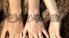 "Hand poked tattoo from a Viking marked in Denmark by Thomas Storm ""Sort Tattoo"" Copenhagen"