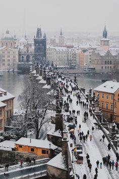 Hiver à Prague par Elizabeth Oulianov