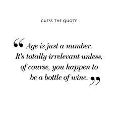 Older is better...