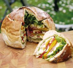 Lunch - might have to use Italian bread  Recipe: The Picnic loaf | The Simple Things