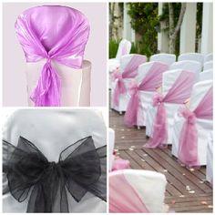 Chair sashes @ Romantica floral design ~*