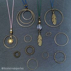 Circles #histoiredeperles #workinprogress #inspiration #instajewelry #DIY Circles, Costume Jewelry, Washer Necklace, Jewelry Accessories, Diy, Detail, Instagram, Inspiration, Fashion