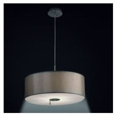 Dual light source taupe drum ceiling pendant with switch. Light up for soft ambience, or down for focused light. Ambient Light, Glass Diffuser, Ceiling Height, Ceiling Pendant, Nickel Finish, Frosted Glass, Light Up, Drums, Taupe