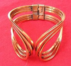 Gorgeous Hinged Copper Bracelet