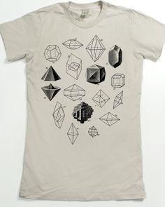 Women's Graphic T-shirt Geometric Shapes Math by SlothWingTees