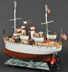 "Märklin Tin-Ships Cruiser battleship ""NEW YORK"""
