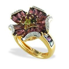 Yellow Gold Bellarri Marietta Ring with Gems and Diamonds - Steven Douglas Jewelry - Designer Collections - Collections