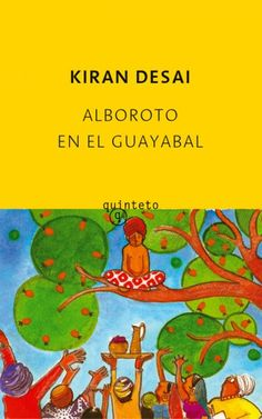 Drawing for the Spanish paperback edition of Kiran Desai's 'Hullaballoo in The Guava Orchard', published by Quinteto – Watercolor and collage, 2007.