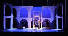 Romeo and Juliet. West Virginia Public Theatre. Scenic design by Robert Klingelhoefer. 2016