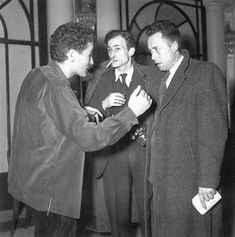 Jean - Louis Barrault , Balthus et Albert Camus