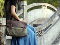Kuriertaschen,Leinwand-Tasche, Schultertaschen