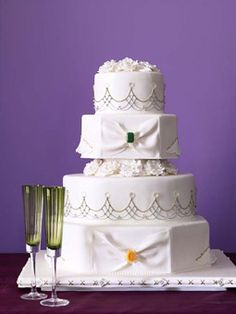 $5687 The 50 Most Beautiful Wedding Cakes   Wedding Ideas   Brides.com : Brides 32.50 per slice feeds 175