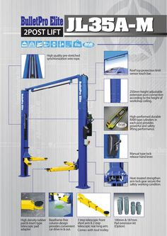 High quality and durable BulletPro Elite 2 Post Clear Floor Hoist 4 ton with superior quality parts. Wheel Alignment, Workshop, Garage, Tools, Elevator, Cars, Atelier, Altar, Carport Garage
