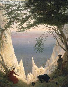 Chalk Cliffs of Rügen, by Caspar David Friedrich, 1818/19