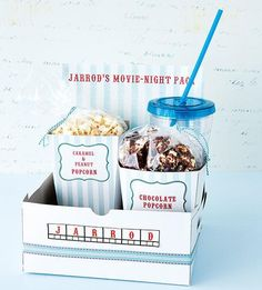 KIT IDEAL PARA SESSÃO DE CINEMA CASEIRA - DIY date movie box