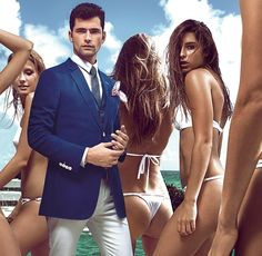 The unstoppable Sean O'Pry expands his amazing portfolio with a modeling assignment namely the spring/summer 2016 campaign of Vicutu, well-known Chinese brand. Sean O'pry, Italian Fashion, Spring Summer 2016, Bikinis, Swimwear, Mens Fashion, American, Model, Blazer