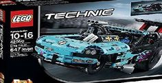 LEGO Technic Drag Racer 42050 Building Kit Wheelie from the start line to the finish with the high-powered Drag Racer, featuring a vivid-blue and black color scheme with flame stickers, working steering and a deta (Barcode EAN = 0673419247603) http://www.comparestoreprices.co.uk/latest1/lego-technic-drag-racer-42050-building-kit.asp