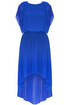 blue high low dress  its so pretty