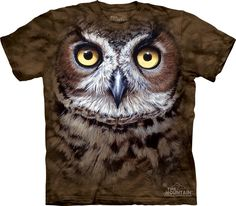Camiseta - The Mountain - Great Horned Owl Head