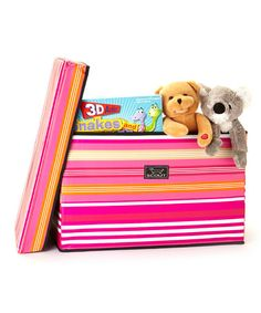 Take a look at this Pink Stripe Collapsible Storage Bench by Scout by Bungalow on #zulily today! $35 !!