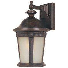 Hampton Bay Wall-Mount Outdoor 9 in. Mystic Bronze Lantern-HD798796 at The Home Depot