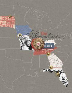 """The Adventure Awaits"" roadtrip Layout by Brandy Murry"