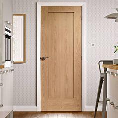 1 panel oak door