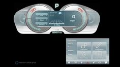 Jaguar Cars - Future sports car dashboard speedo touchscreen concept