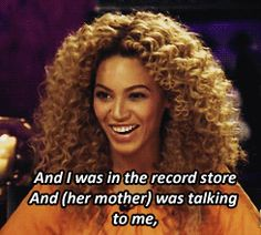 And I Was In The Record Store And (  Her Mother ) Was Talking To Me ,