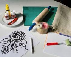 Método de impressão passos imagens de pano