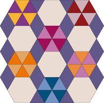 English Paper Piecing Hexagon Raute Diamond