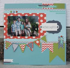 Stampin' Up Scrapbook Layout  by Amy Bollmans