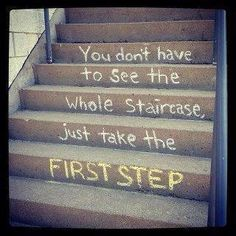 Inspiration to start today. Get moving to get fit. Baby steps!