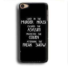 American Horror Story Cover iPod Touch 6 Case | Aneend