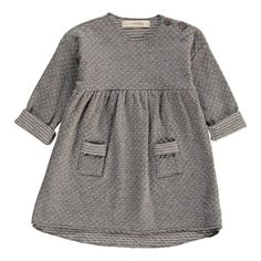 1+ IN THE FAMILY Robe Pois Arlet Gris chiné