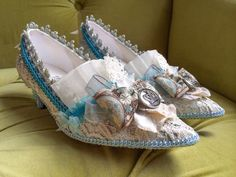 Marie Antoinette Shoes Ivory Lace Silver Turquoise Blue French Revolution Heels Baroque Rococo 17th 18th Century Paris Fashion Carnivale