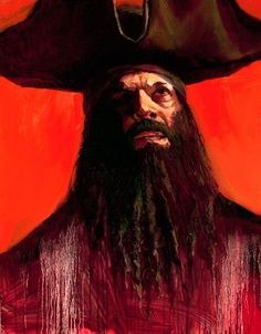 Black Beard Limited Edition Giclee on Canvas by Gabe Leonard. Available to buy at Fascination St Art.