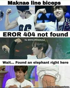 Who needs biceps when you have an elephant? XD