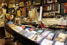 La librería que se llena de agua, en Venecia (Acqua Alta) -