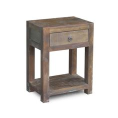 Timbergirl Reclaimed Wood Side-table and Drawer (India)