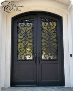 Custom wrought iron door (Drafting & Design by Kayla Bingham via Elegante Iron, Inc.)