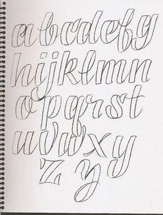 Caligrafía, abecedarios - Taringa!                                                                                                                                                     Más #artideas