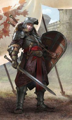 spassundspiele: Female Combatant – fantasy character concept by Diego Gisbert Llorens