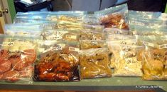 Freezer meals!!! 46 meals in 4 hrs for approx 95.00! I am definitely doing this soon =) and i just bought the books she mentions in the post so I can have the entire recipes.