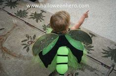 Firefly Costume Wings: I have lived in south Florida most of my life, but there were a couple of summers that I spent up north where they have fireflies. I was so jealous because